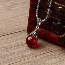 Load image into Gallery viewer, Jane Austen Inspired Ruby Red Stone Necklace