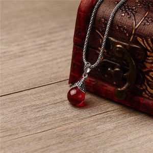 Ruby Red Stone Necklace