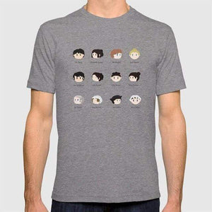 Pride and Prejudice Kawaii Characters T-Shirt -  thejaneaustenshop.co.uk