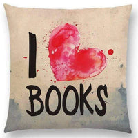 Reading & Books Cushion Cover -  thejaneaustenshop.co.uk