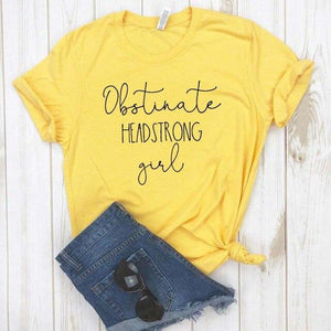 Obstinate Headstrong Girl Casual T-Shirt
