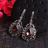 Regency Wine Red Drop Earrings