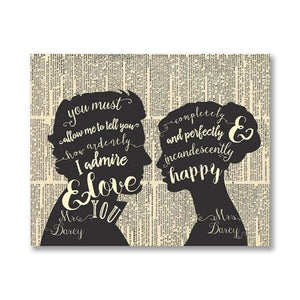 Mr & Mrs Darcy Canvas Print