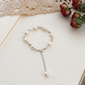 Marianne Dashwood Pearl and Silver Bracelet