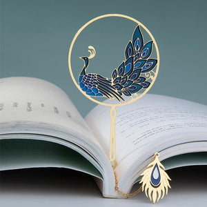 Pride & Prejudice Blue Peacock Bookmark