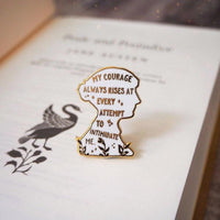 Jane Austen Enamel Lapel Pin Brooch