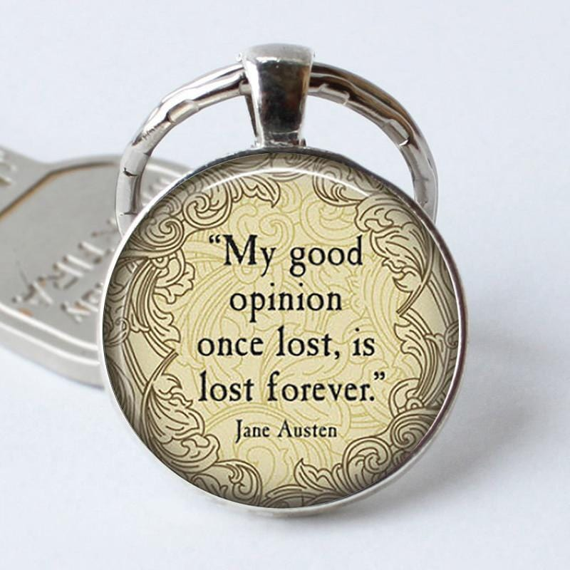 Darcy Quote Keyring