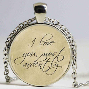 Pride and Prejudice Quote Pendant
