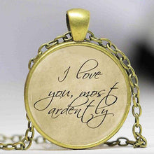 Load image into Gallery viewer, Pride and Prejudice Quote Pendant