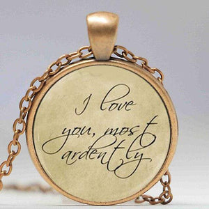 Pride and Prejudice Quote Pendant -  thejaneaustenshop.co.uk