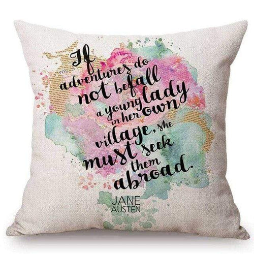 Jane Austen Classic Quotes Decorative Cushion Cover
