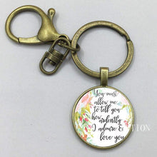 Load image into Gallery viewer, Mr. Darcy Quote Keyring -  thejaneaustenshop.co.uk