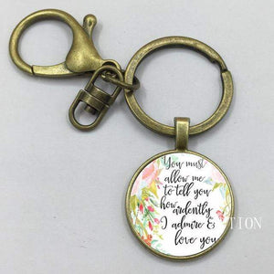 Mr. Darcy Quote Keyring -  thejaneaustenshop.co.uk