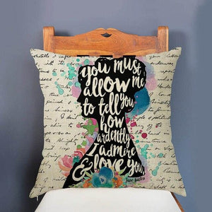 Romantic Quotes Cushion Cover