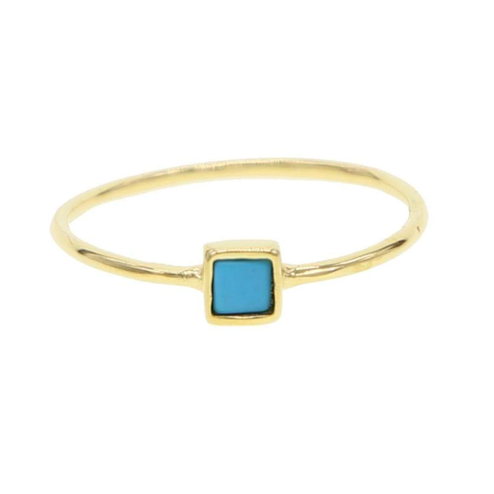 Inspire Collection - Turquoise Square Ring -  thejaneaustenshop.co.uk