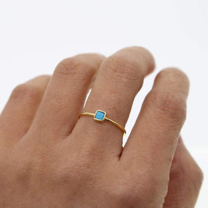 Inspire Collection - Turquoise Square Ring