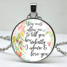 Load image into Gallery viewer, Jane Austen Quote Pendant