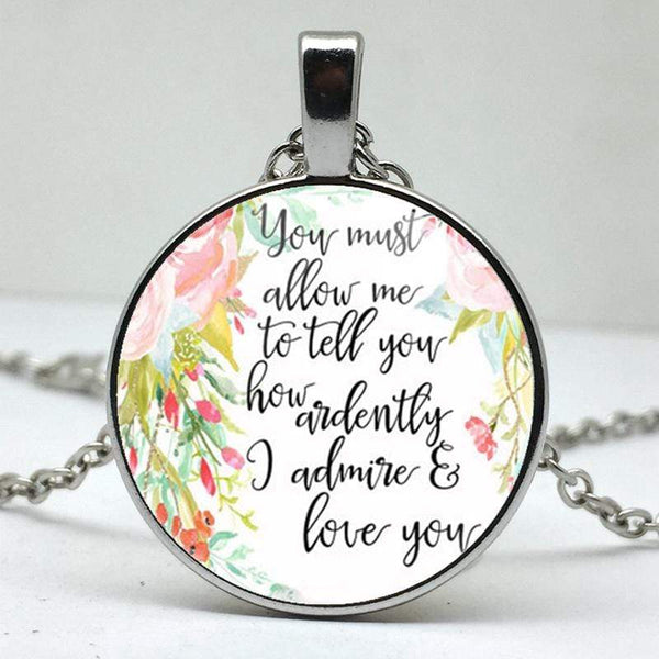 Jane Austen Quote Pendant -  thejaneaustenshop.co.uk
