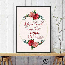 Load image into Gallery viewer, Jane Austen Love Quote Canvas Picture -  thejaneaustenshop.co.uk
