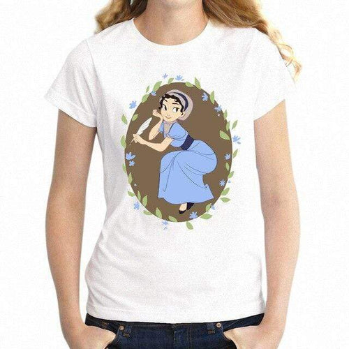 Jane Austen Cute Cartoon T-Shirt