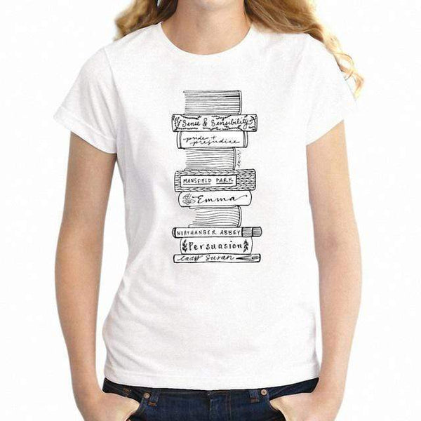 All The Novels T-Shirt -  thejaneaustenshop.co.uk