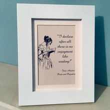 Load image into Gallery viewer, Pride & Prejudice Quote Framed Print