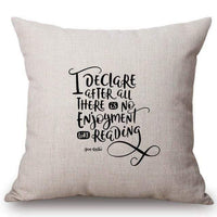 Caroline Bingley Quote Cushion Cover