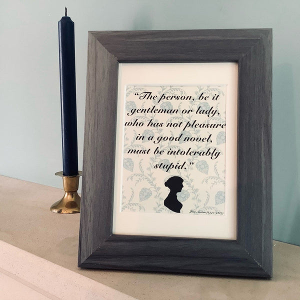 Northanger Abbey Quote Framed Print