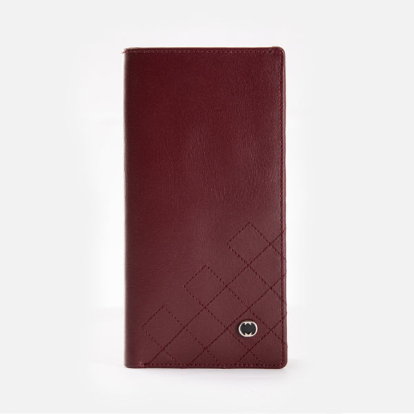 CARLO Bi-Fold Quadrat Long Leather Wallet