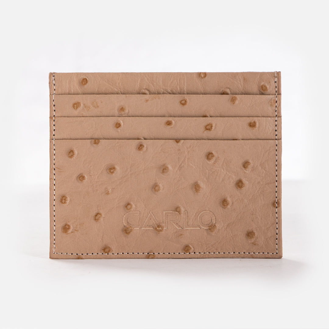 CARLO 7 Slot Card Holder -Ostrich-Effect