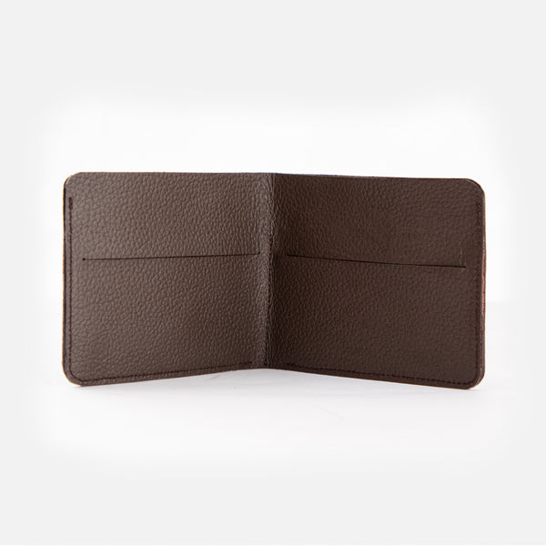 CARLO Bi-Fold Minimalist Leather Wallet