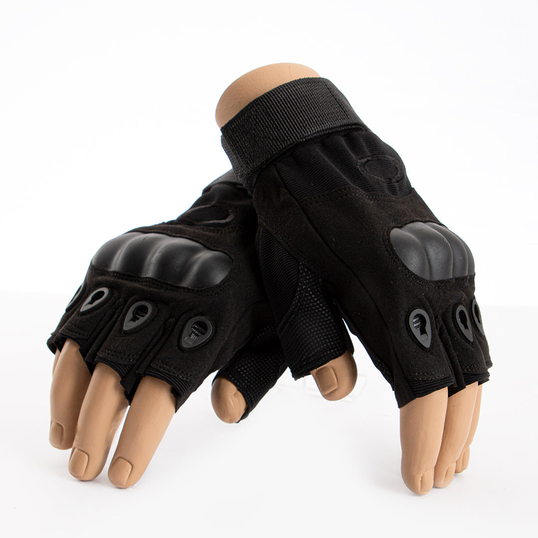 Tactical Pilot Fingerless Gloves