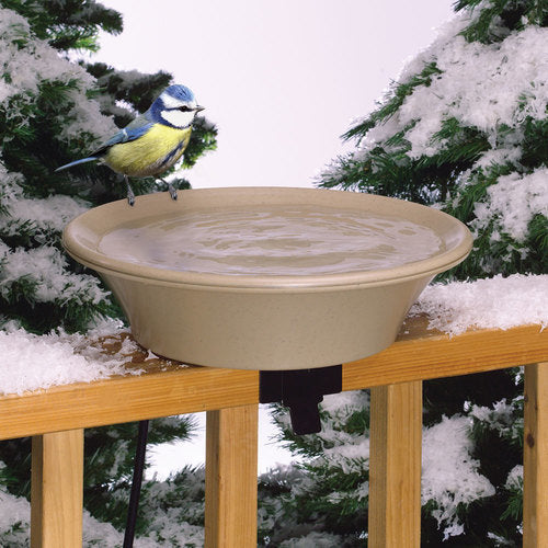 "14"" Heated Bird Bath w/Ez-Tilt Deck Mount & Pole Mount"