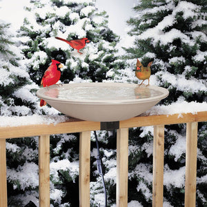 "20"" Heated Bird Bath w/Ez-Tilt Deck Mount"