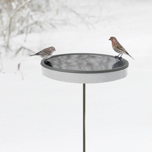 Pole Mounted Heated Bird Bath