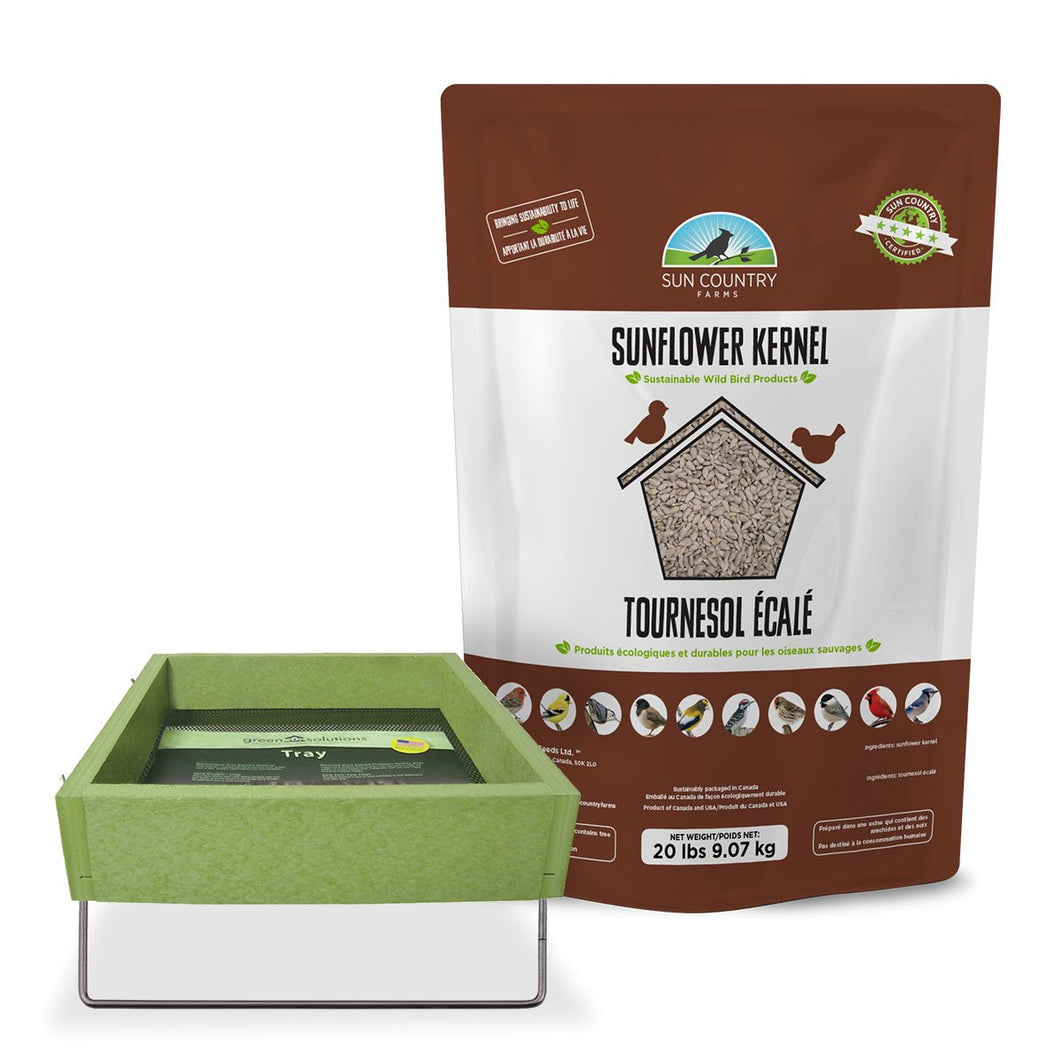Sun Country Recycled Ground Platform Feeder Free Seed