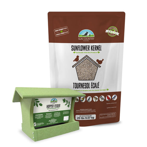 Sun Country Farms Recycled Tall Hopper Feeder with Suets Free Seed