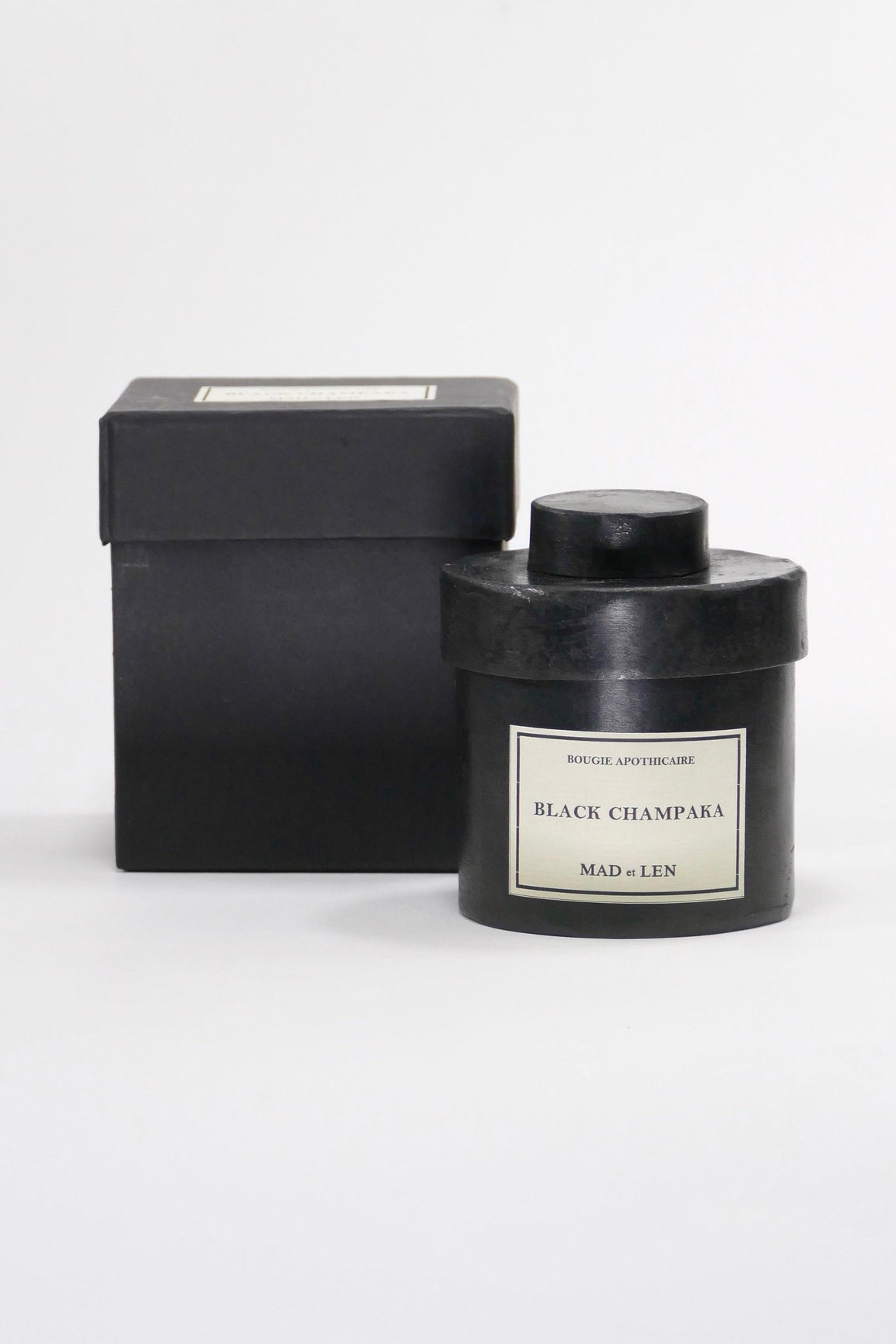 Mad et Len Bougie Apothicaire Black Champaka Candle 300g