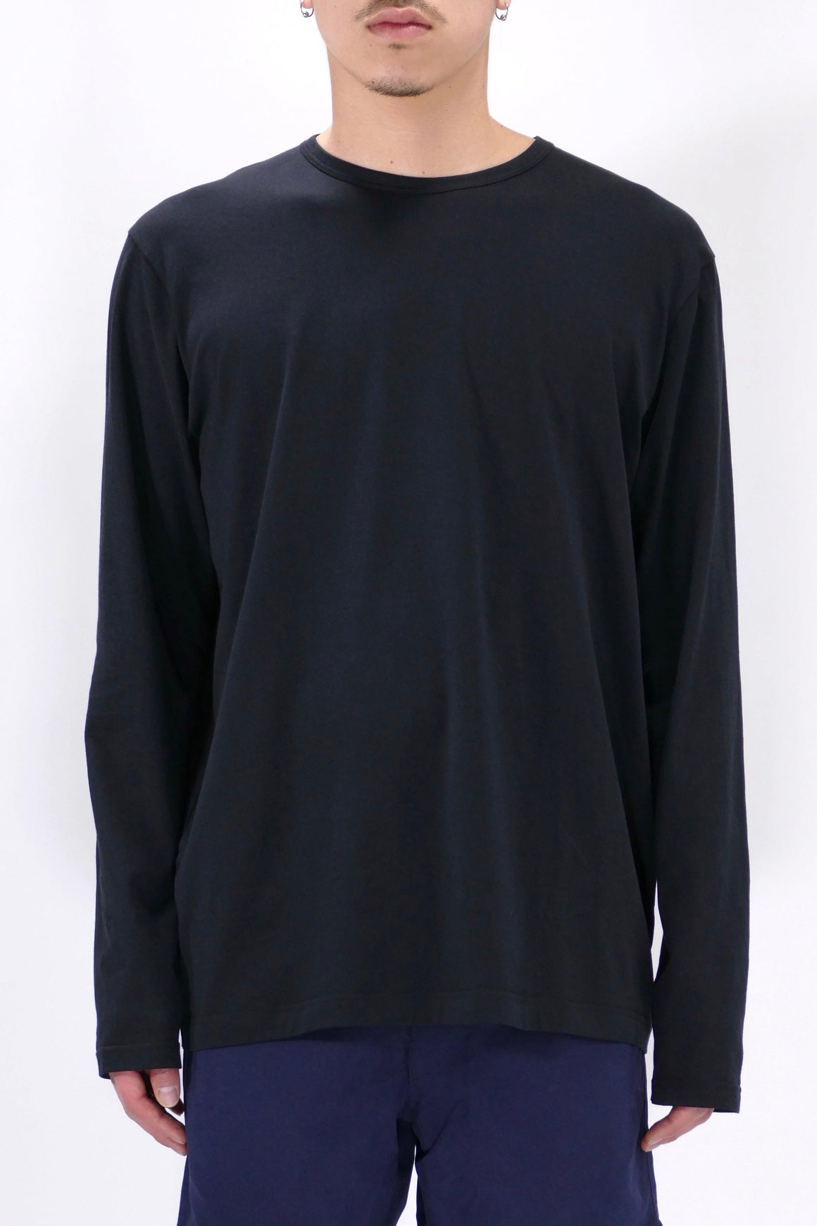 Sunspel Long Sleeve Crewneck Black