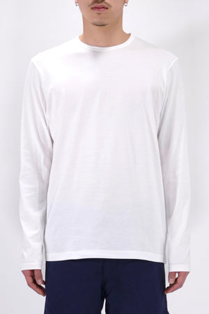 Sunspel Long Sleeve Crewneck White