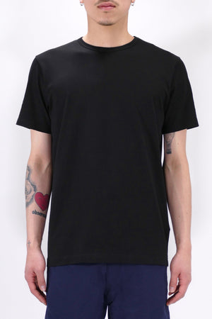 Sunspel S/S Crew Neck Black T-Shirt