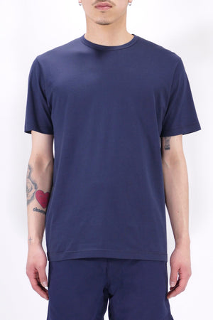 Sunspel S/S Crew Neck Navy T-Shirt