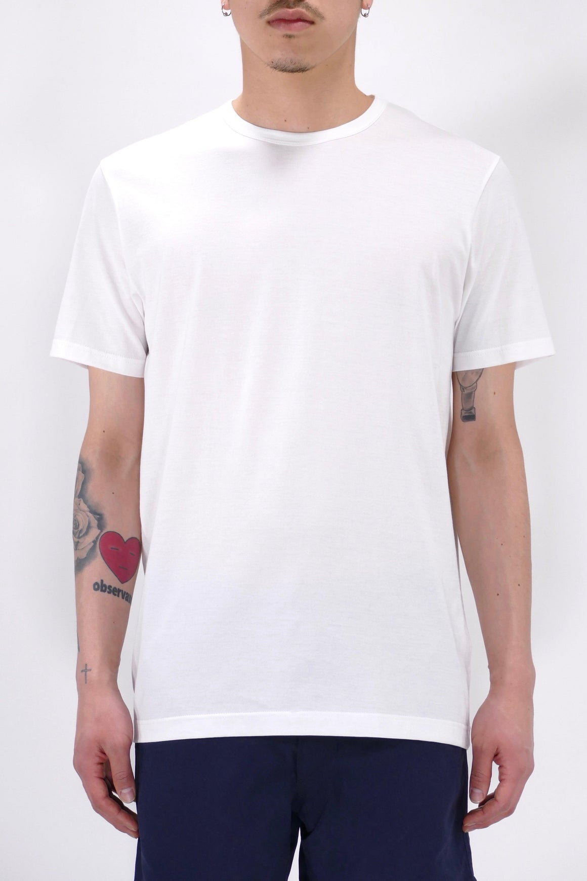 Sunspel S/S Crew Neck White T-Shirt