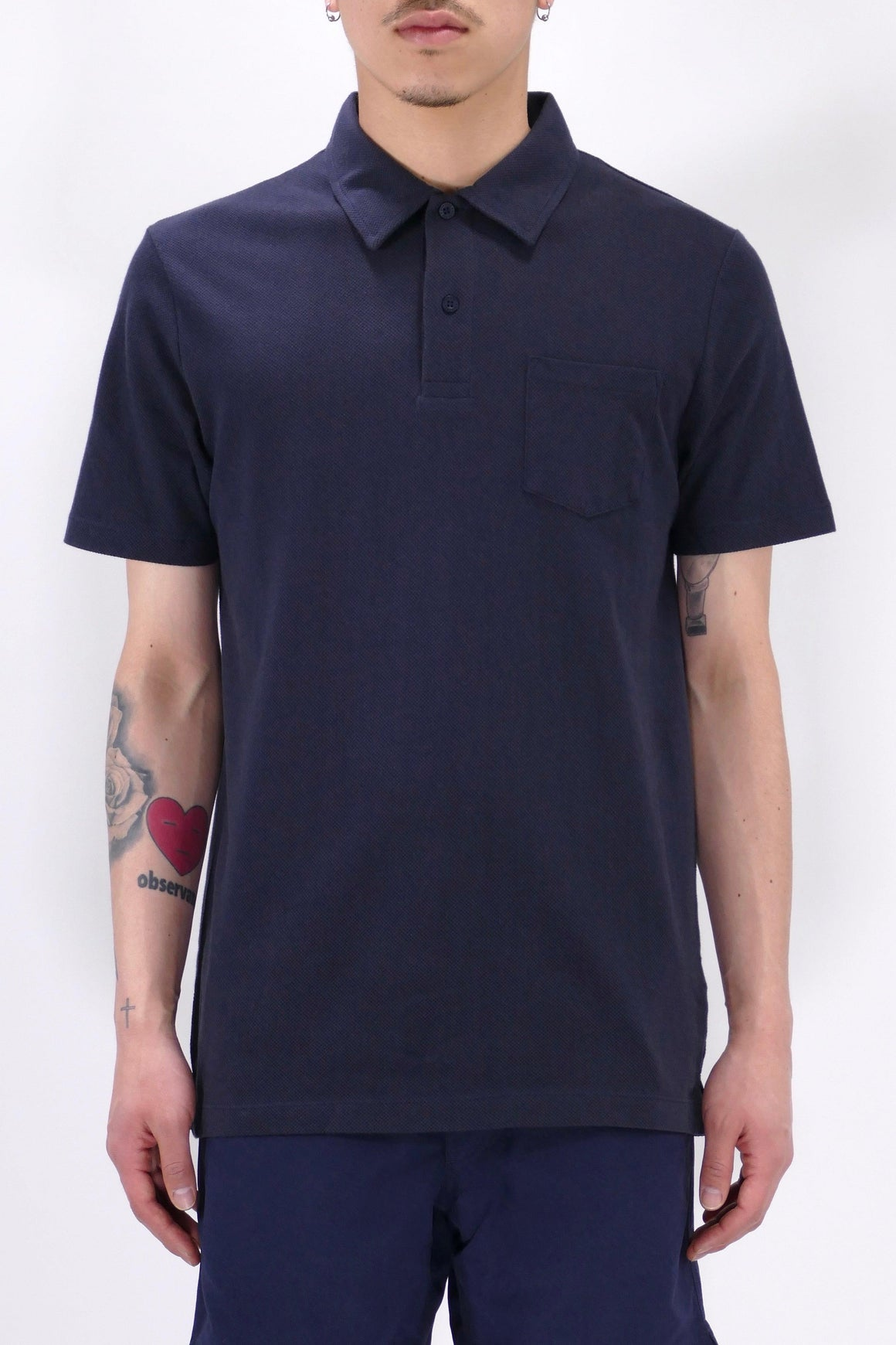 Sunspel Riviera Polo Navy