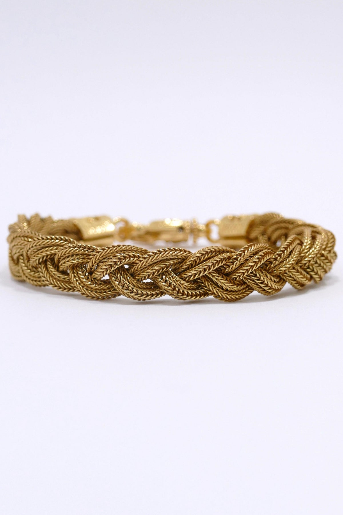 Emanuele Bicocchi Gold Plated Braided Bracelet Gold