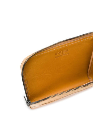 Isaac Reina Zipped Wallet Case Natural