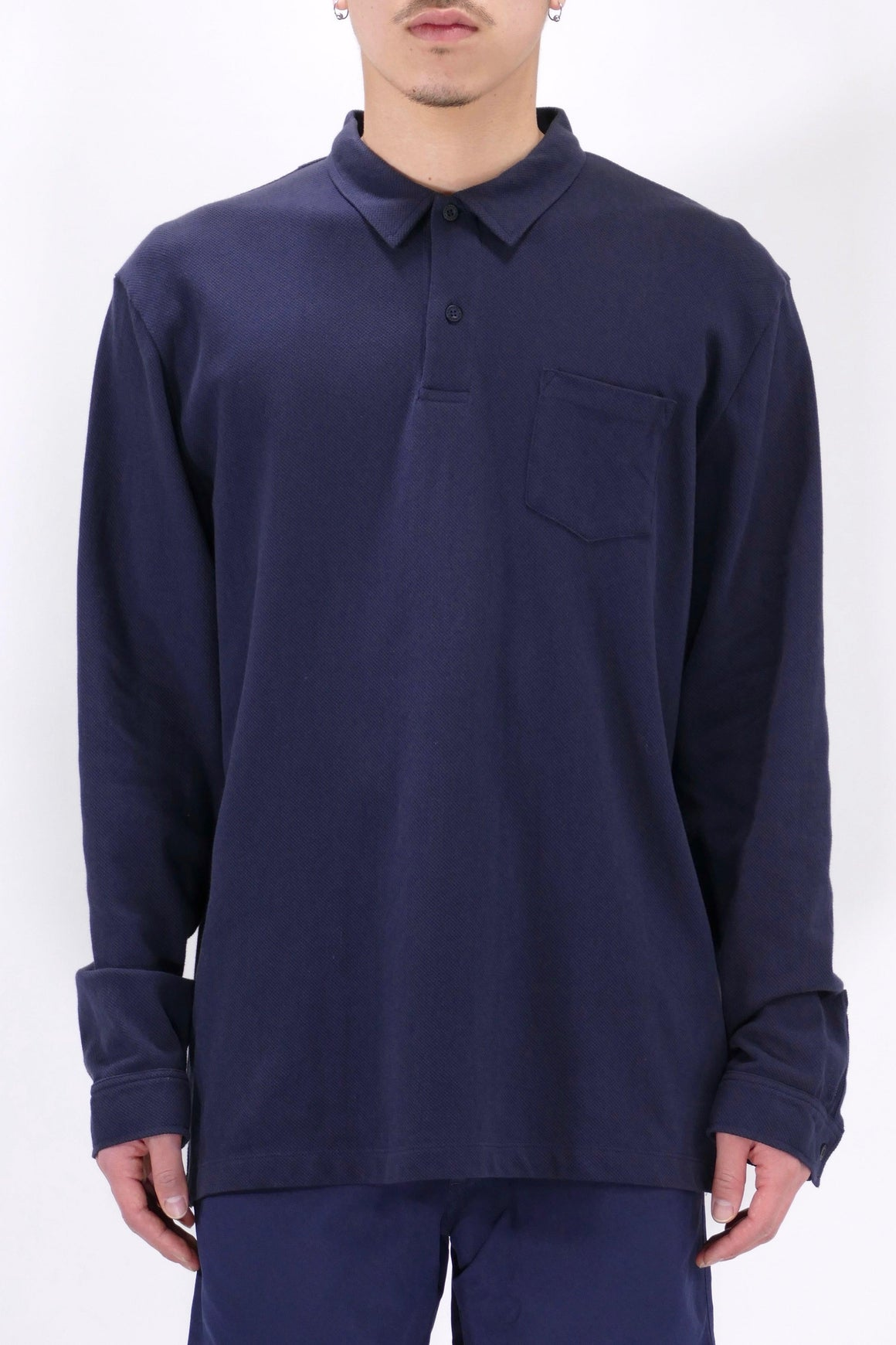 Sunspel LS Riviera Polo Navy