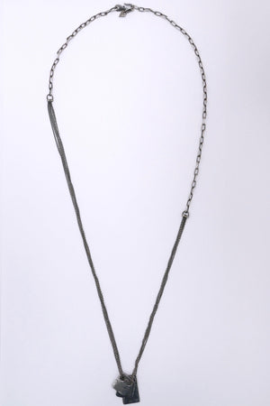 M.Cohen The Tag Necklace Silver