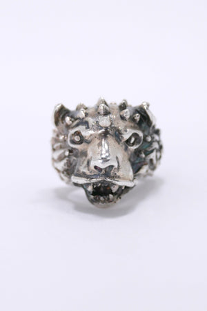 Emanuele Bicocchi Silver Lion Head Ring