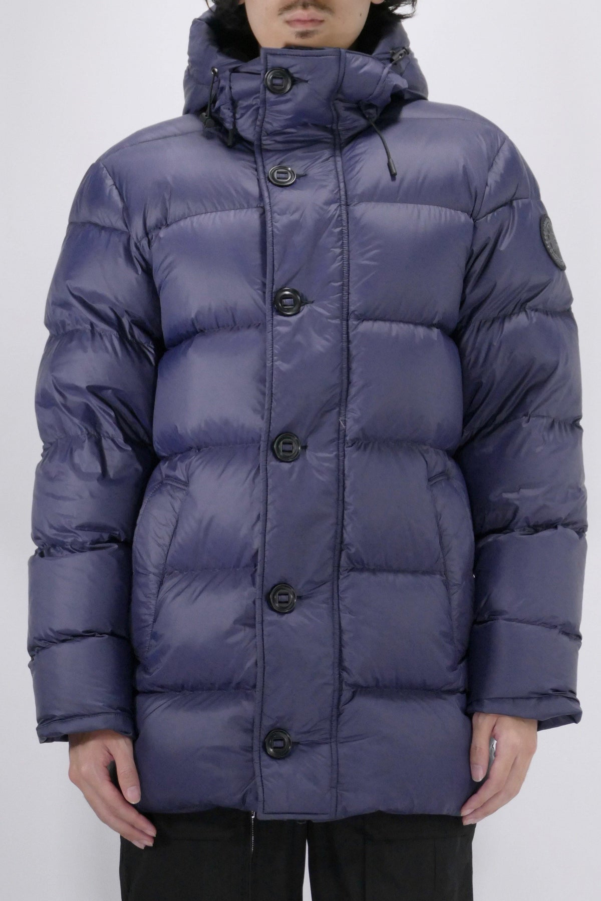 Canada Goose Mens Parka Vernon Black Label - Navy
